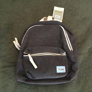 Toms Gray Canvas Vivian Mini Backpack (NWT)